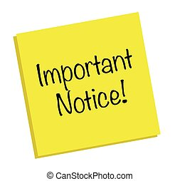 Important Notice Note