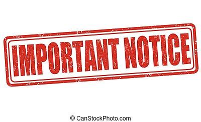 Important notice stamp
