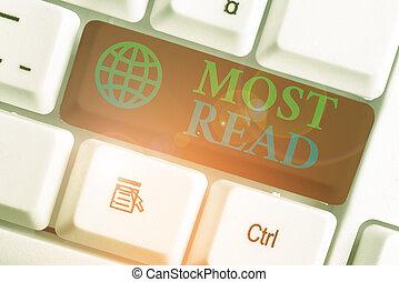 important, read., photo, showcasing, écriture, note, considéré, business, classic., la plupart, ou, morceau, projection, littérature