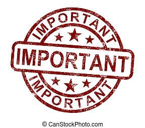 importante, selo, mostra, crítico, informação, ou,...