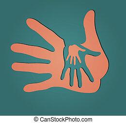 importar-se, mãos