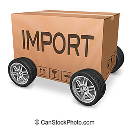 importation cardboard box logistics and freight...