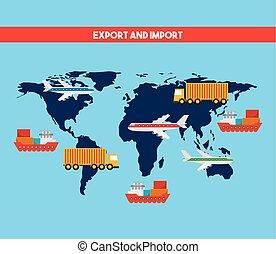 importation, conception, exportation