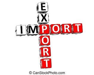 importation, exportation, mots croisés