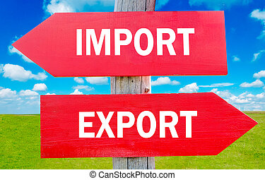 importation, exportation, ou