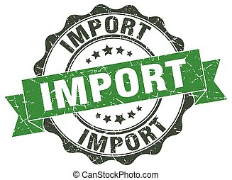 importation, signe., stamp., cachet