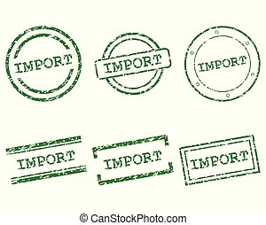 importation, timbres
