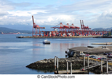 Imports & exports port of vancouver BC Canada.
