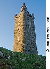 imposant, toren, scrabo, ierland, noordelijk