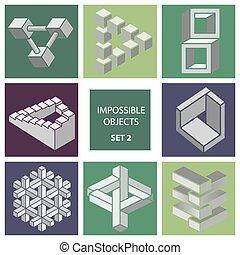 imposible, objetos, Conjunto,  2