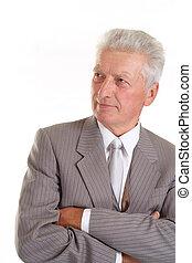 Imposing elderly man in suit