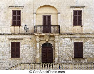 Imposing Facade - Imposing Baroque Architecture on medieval...