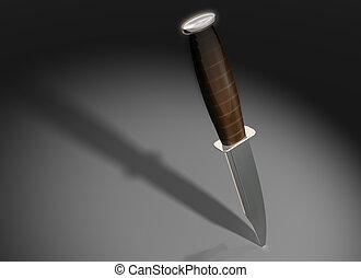 Imposing knife