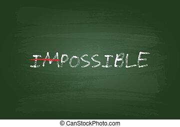 impossível, conceito, possível