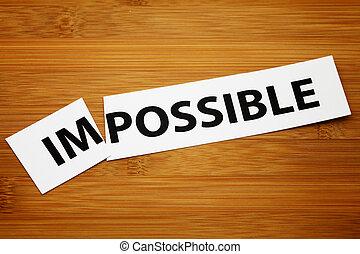 impossível, mudança, para, possível