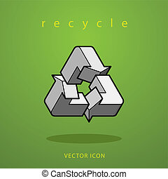 impossible figure recycle icon