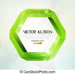 Impossible figure. Vector illusion. - Impossible figure...