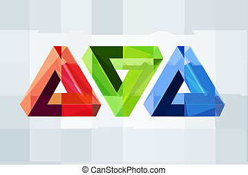 Impossible figures - Abstract impossible geometric figures...