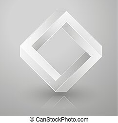 impossible geometry. Optical illusion