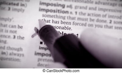 Impossible marked with a cross and - impossible, definition,...