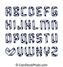 Impossible shape alphabet