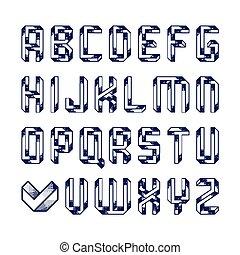 Impossible shape alphabet
