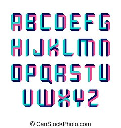 Impossible shape font