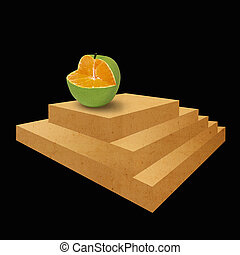 Impossible stair and apple orange - The apple orange is on...