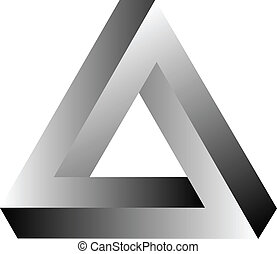 Impossible Triangle Of Tribar Optical Illusion Vector...