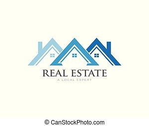 imposta, logotipo, concepto, casas, techo, soffit, bienes...