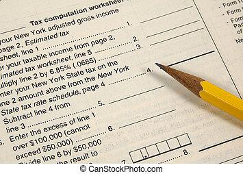 imposto, worksheet, 2