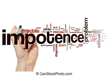 Impotence word cloud concept