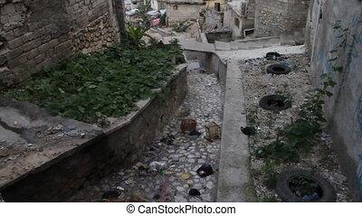 impoverished neighborhood in Port-au-Prince Haiti