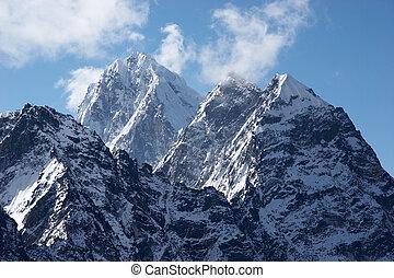 Impregnable summits, Himalaya, Nepal - Rocky north-west face...
