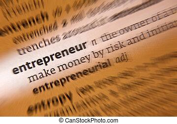 imprenditore, -, dizionario, definizione