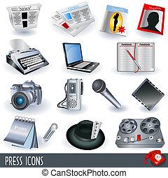 imprensa, ícones