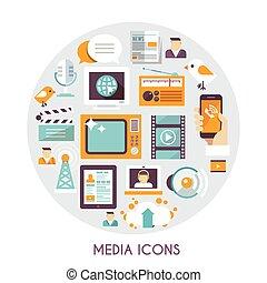 imprensa massa, conceito