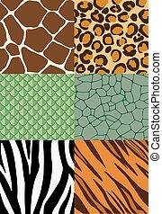 impresión animal, seamless, patrones