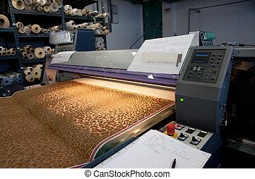 impresión de tejido, digital