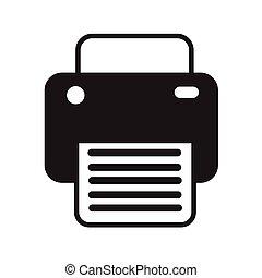 impresión, fax, diseño, ilustración, icono