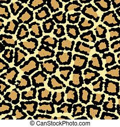 impresión, leopardo