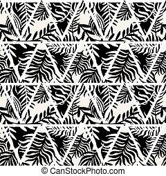 impresión, moderno, expresivo, mano, tinta, patrón, .fashion, dibujado, seamless, golpes, textil