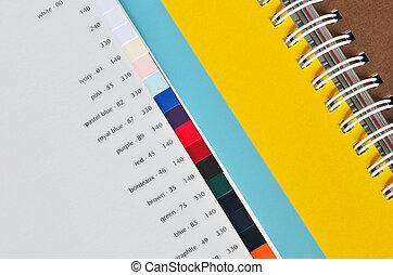 impresión, papel, dechado