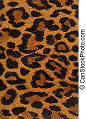 impresión, patrón, leopardo