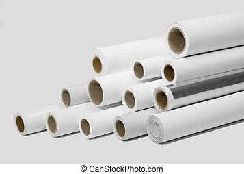impresión, rollos, para, wide-format, impresoras