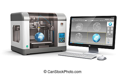 impresión, tecnología, 3d