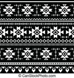impresión, tribal, vector, seamless, azteca