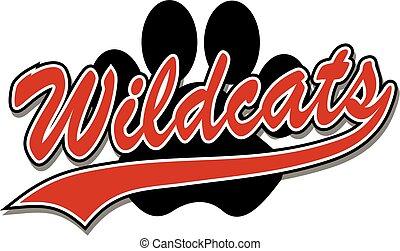 impresión, wildcats, pata