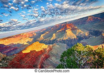 impresionante, cañón, magnífico