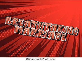 impresionante, matrimonio